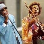 Andre 3000 'Rocks' Jimi Hendrix Styled Garb on Set