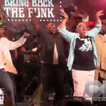 George Clinton Throws up the Omega Psi Phi Hook with Tom Joyner at Concert