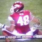 Arkansas Football Player, Deatrich Wise, Jr., Celebrates Johnny Manziel Sack With Kappa Alpha Psi Shimmy