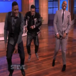 Dlow & Lil Kemo Perform 'Dlow Shuffle' On Steve Harvey Show