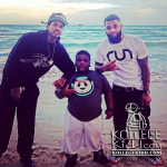 Lil Reese Coolin With Lil Terrio In Miami