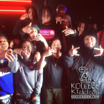 Lil Mouse & Lil Durk Make It Rain In Strip Club During  'Wit My Team' Remix Video Shoot