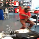 Old Man Bop King Shows His Moves Inside Foot Locker