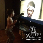 Toddler Totes Toy Gun While Turning Up To Fredo Santana's 'Double Up' Music Video