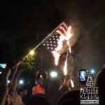 Shaw Protesters Burn American Flag After Police Shooting Death of Vonderrit Myers