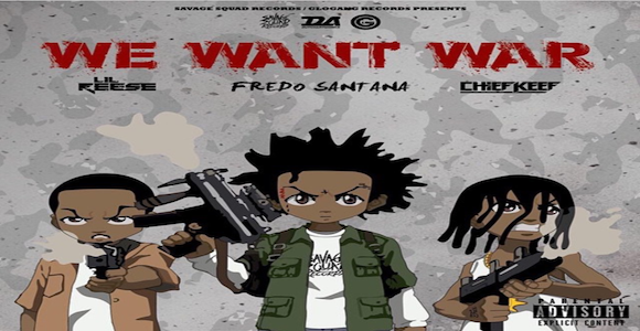 Lil Reese Showcases The Boondocks Themed Cover Art For We Want War Featuring Fredo Santana And