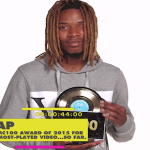 Fetty Wap Tearfully Accepts MC100 Award For 'Trap Queen'