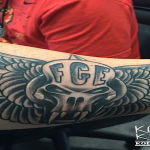 Montana of 300 Fan Gets FGE Tattoo