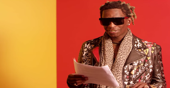 Young Thug Reads Lyrics To Hit Song 'Best Friend ...