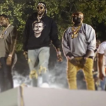Gucci Mane, Meek Mill and Rick Ross Duck Gunshots During Video Shoot In Atlanta