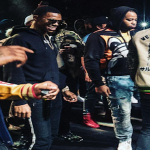 A Boogie Wit Da Hoodie Booling Onstage With Chief Keef and Glo Gang