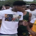 NBA Youngboy Visits Young Fans At Track