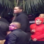 Tekashi69 Almost Caught Lackin By YG's Homie Slim400 In Long Beach. Security Saved Him.